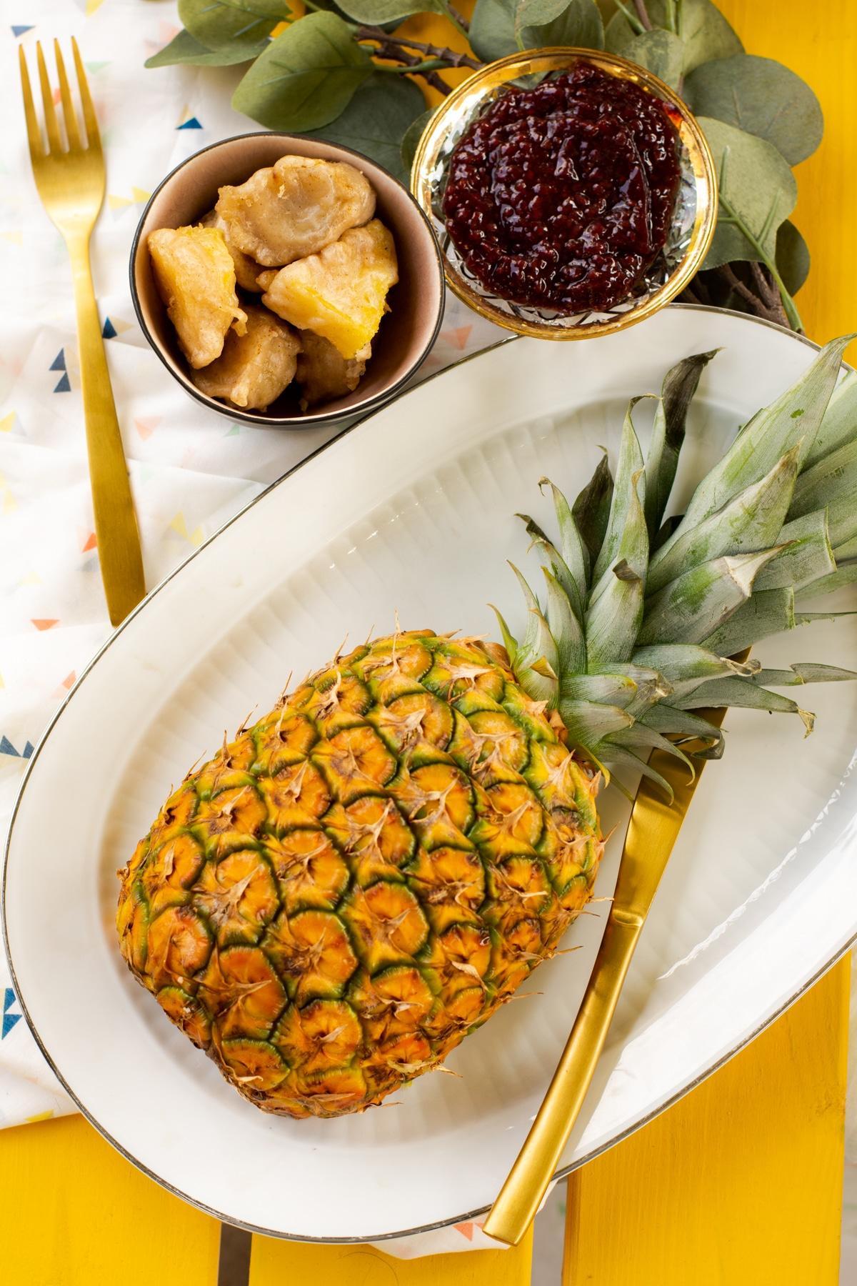 Tempura van fruit - vegan dessert uit No Milky Way