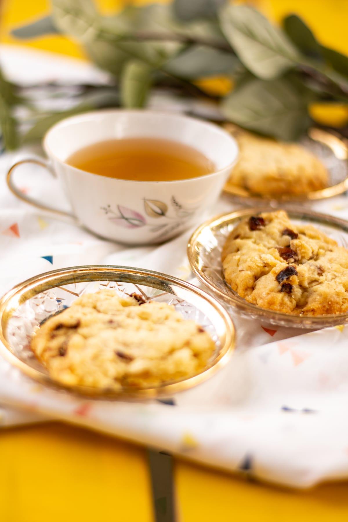 Koekjes met rozijnen en dadel - vegan dessert uit No Milky Way